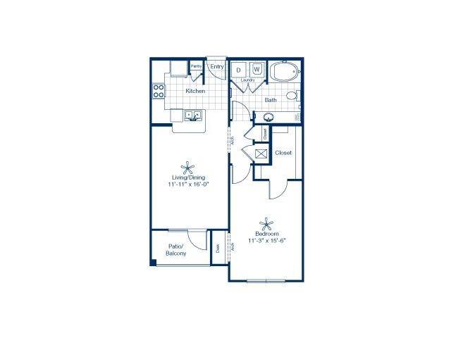 Floor plan at Falls at Eagle Creek, Humble, 77396