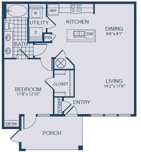 Floor plan at Yorktown Crossing, Houston,Texas