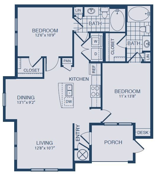 Floor plan at Yorktown Crossing, Houston