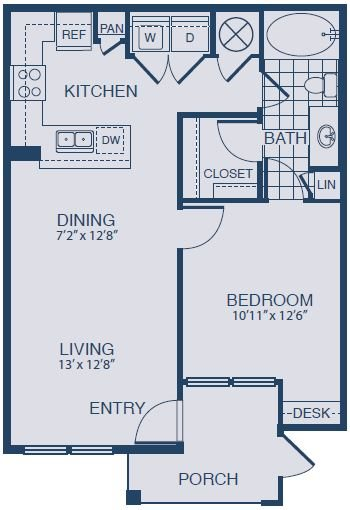 Floor plan at Yorktown Crossing, Houston, TX