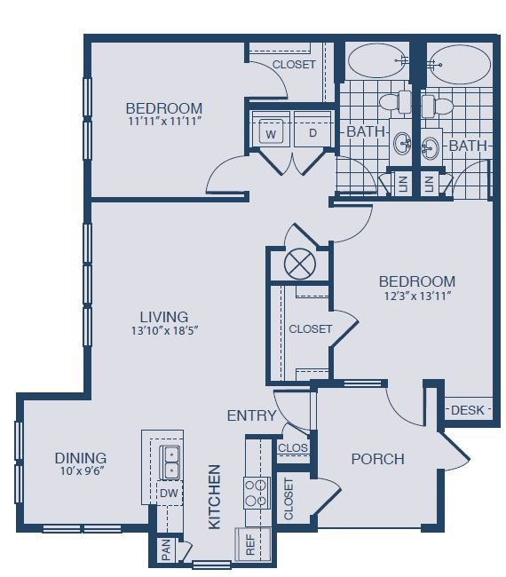 Floor plan at Yorktown Crossing, Texas