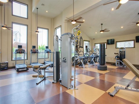Fitness Center with Updated Equipment at Yorktown Crossing, Texas