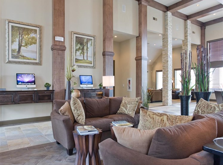 Lavish Clubhouse with Business Center at Yorktown Crossing, Houston, TX 77084