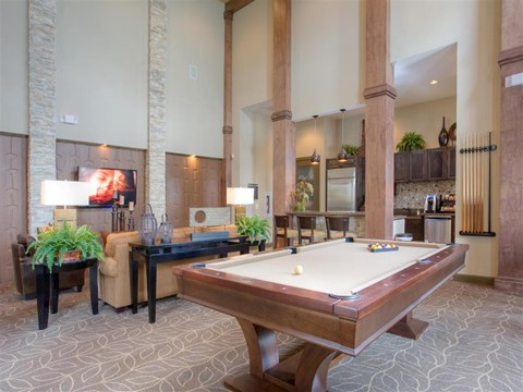Billiards Game Room at Yorktown Crossing, Houston, TX