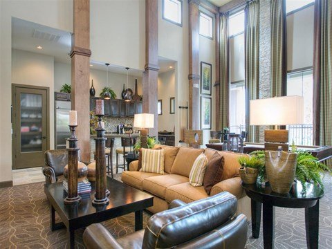 Expansive Clubhouse with Luxurious Interior at Yorktown Crossing, Houston