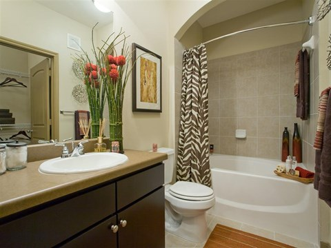 Custom Framed Bathroom Mirrors at Yorktown Crossing, Houston, TX