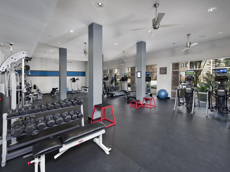 Fitness Center with Free Weights at Sorelle, Atlanta, GA