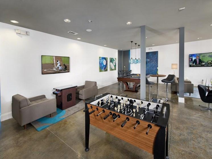 Community Lounge, pool table, foosball