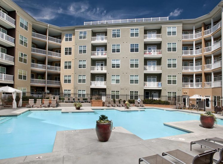 Pool Side Relaxing Area at Sorelle, Atlanta, GA 30324
