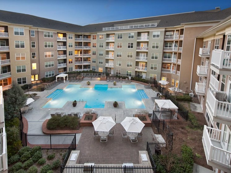 Pool View from Balcony at Sorelle, Atlanta, GA
