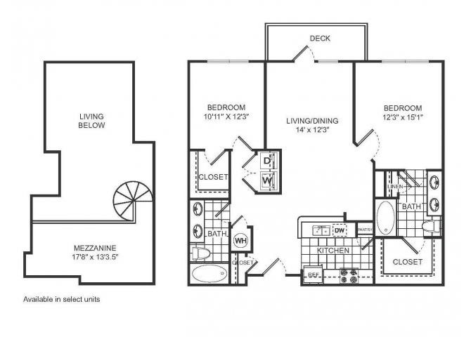 AVERY Floor plan at Sorelle, Atlanta, 30324