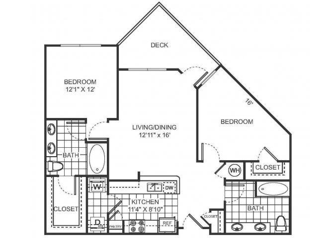CHERIE Floor plan at Sorelle, Atlanta, GA