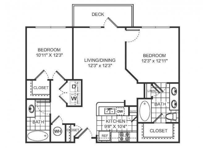 CLAIR Floor plan at Sorelle, Atlanta, GA 30324