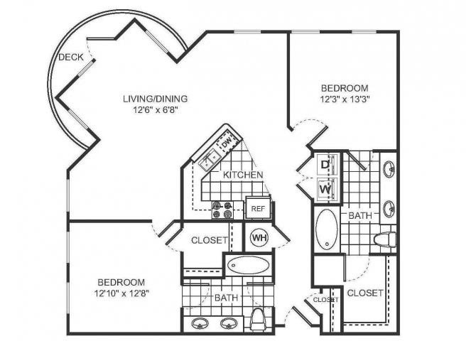 DESIREE Floor plan at Sorelle, Georgia, 30324