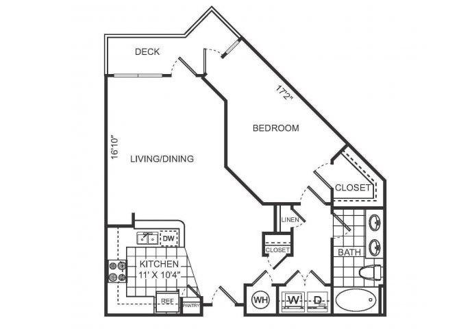 DIOR Floor plan at Sorelle, Atlanta