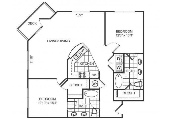 LILI Floor plan at Sorelle, Atlanta