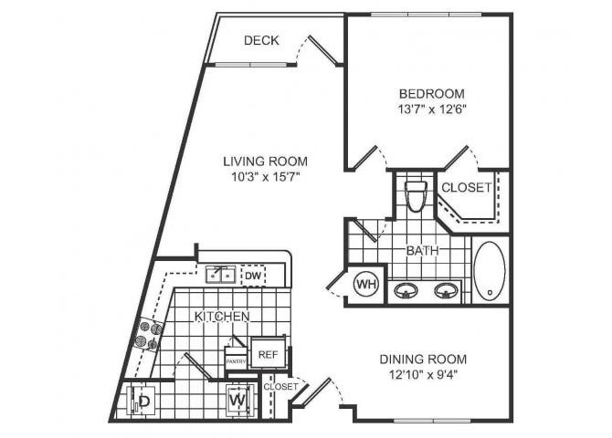PARIS Floor plan at Sorelle, Georgia, 30324