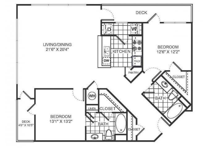 ROMEO Floor plan at Sorelle, Atlanta, GA