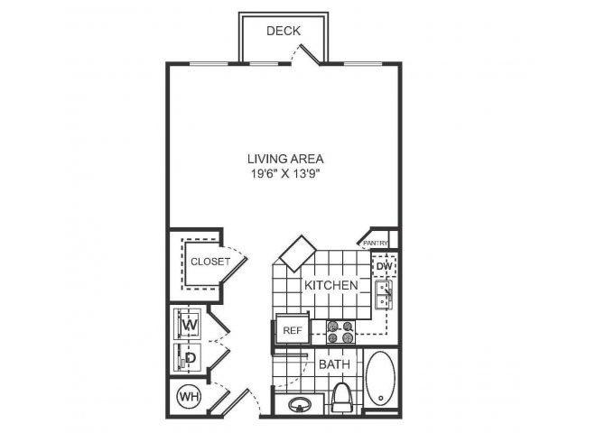 SORELLE Floor plan at Sorelle, Atlanta, GA 30324