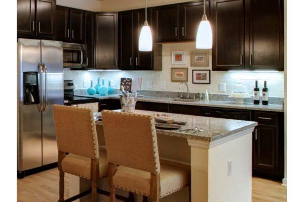 Espresso Finished Hardwood Cabinetry at Alexander Village, Charlotte, 28262