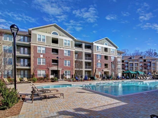 Lounging by the Pool at Alexander Village, North Carolina, 28262
