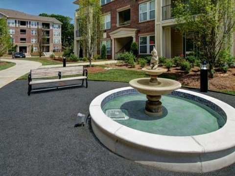 Zen Garden w-Tranquil Fountain at Alexander Village, North Carolina