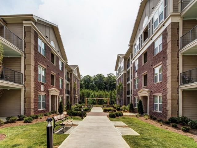 Beautiful Landscaping and Park-like Setting at Alexander Village, Charlotte, 28262