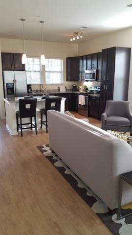 Open Furnished Floor Plan at Alexander Village, Charlotte, NC 28262