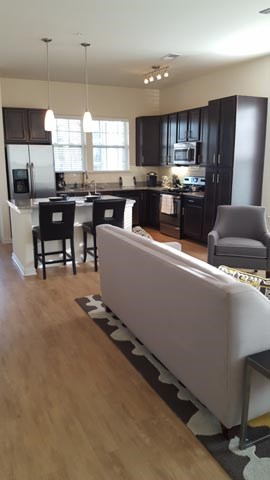 Open Furnished Floor Plan at Alexander Village, Charlotte, NC 28262