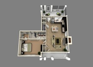 Floor plan at Alexander Village, North Carolina, 28262