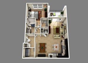 Floor plan at Alexander Village, North Carolina