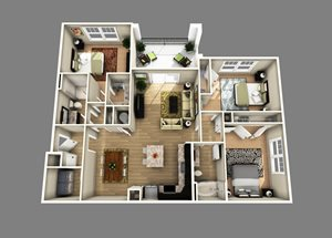 Floor plan at Alexander Village, Charlotte,North Carolina