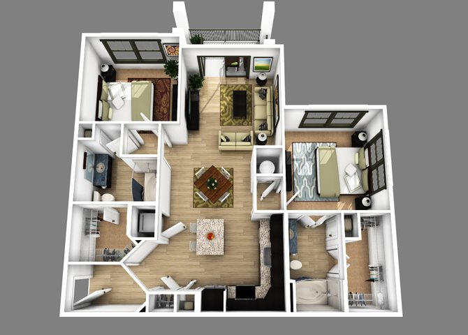 Floor plan at Alexander Village, Charlotte, 28262