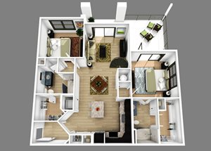 Floor plan at Alexander Village, Charlotte, NC 28262