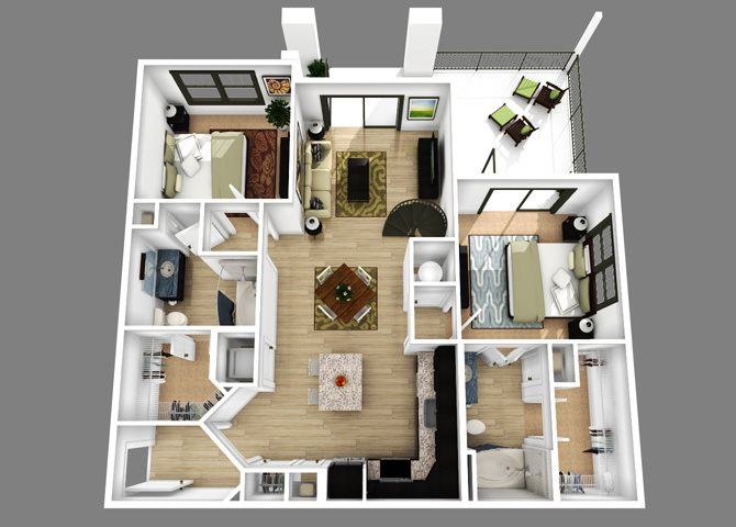 Floor plan at Alexander Village, Charlotte, NC 28262
