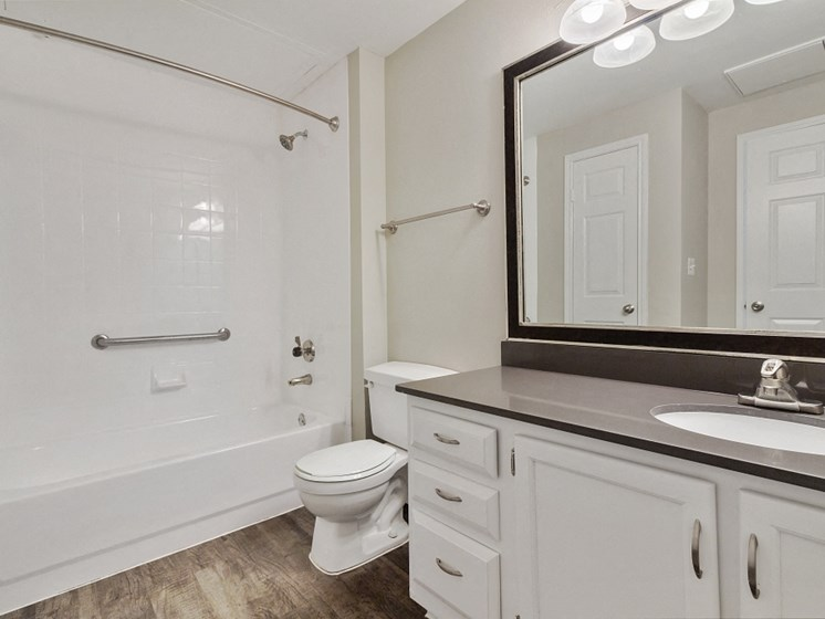 Bathroom with updated countertops