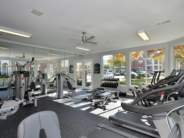 Fully equipped cardio fitness facility -free weights, cardio machines