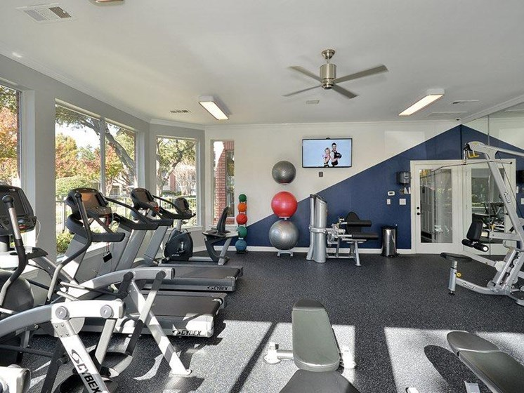 Fully equipped cardio fitness facility -free weights, weighted machines