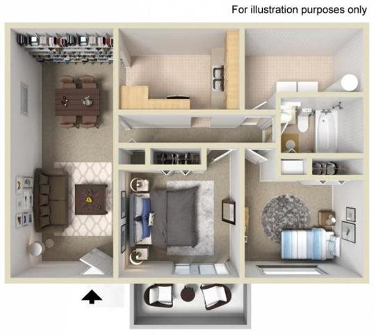 2 Bed Floor Plan 3