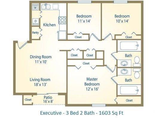 3x2 Executive Floor Plan 5