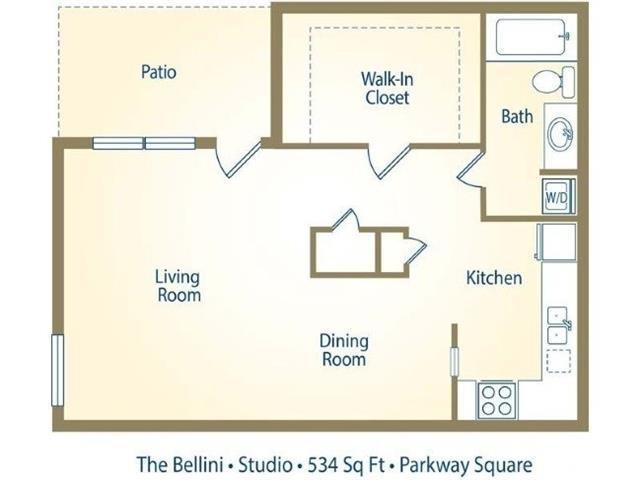 The Bellini Floor Plan 1