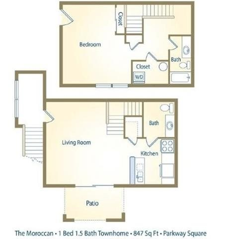 Bat Apartment Plans | Floor Plans Of Parkway Square Apartments In Tallahassee Fl