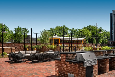 Impress Your Friends a Family with a Gourmet Grilled Meal at One of Our 3 Outdoor Grilling Stations at Bluebird Row Southside Apartments, Chattanooga, TN 37408