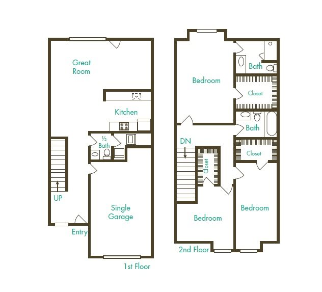 Crystal View Apartments: Floor Plans Of Townhomes At Mountain View In Puyallup, WA