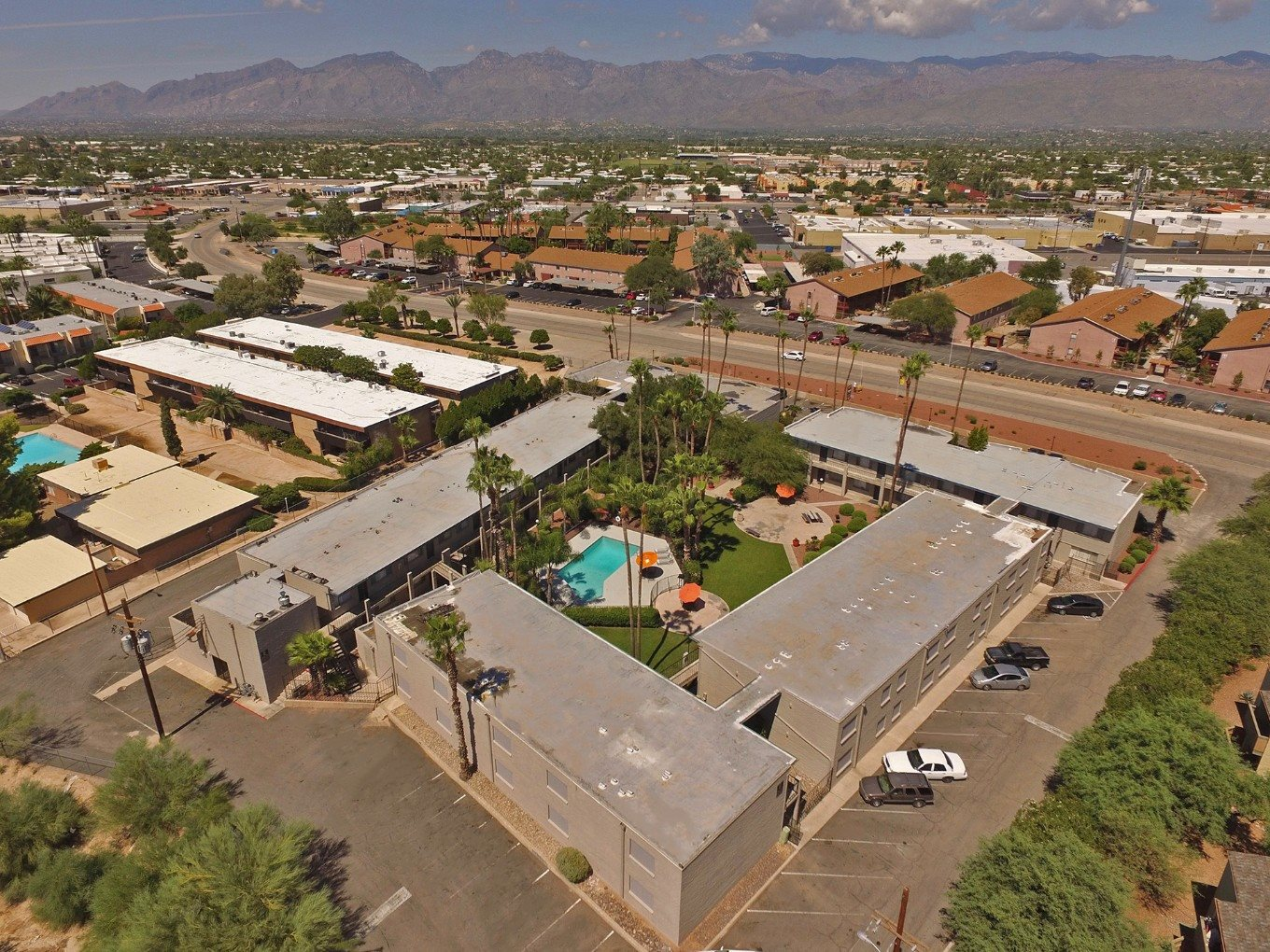 community arial view at Canyon Vista Apartments in Tucson, AZ