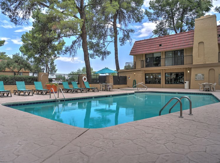 Pool & Pool Patio at The View At Catalina Apartments in Tucson, AZ