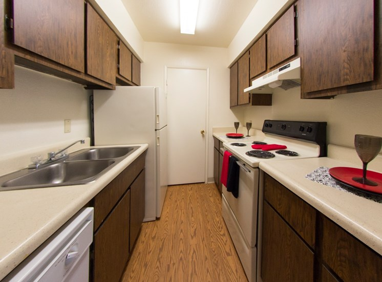 Kitchen at Canyon Heights Apartments in Tucson, AZ