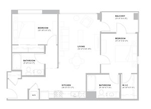 B3 - 2 Bedroom, 2 Bath
