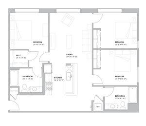 C1 - 3 Bedroom, 2 Bath
