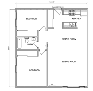 2 Bedroom Large
